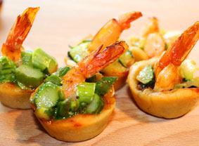 Sardishes Fingerfood als flying buffet
